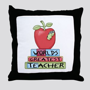 Worlds Greatest Teacher Throw Pillow